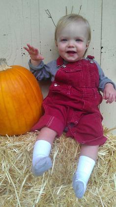 Alexander enjoying autumn!