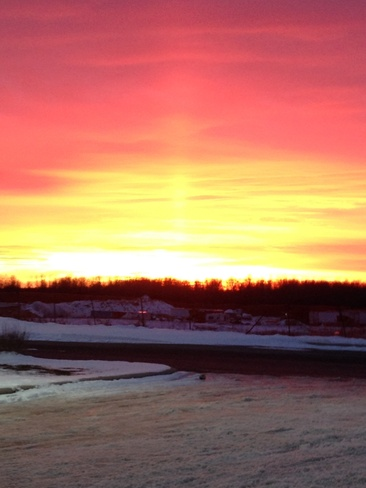 Sunset Timmins, Ontario Canada