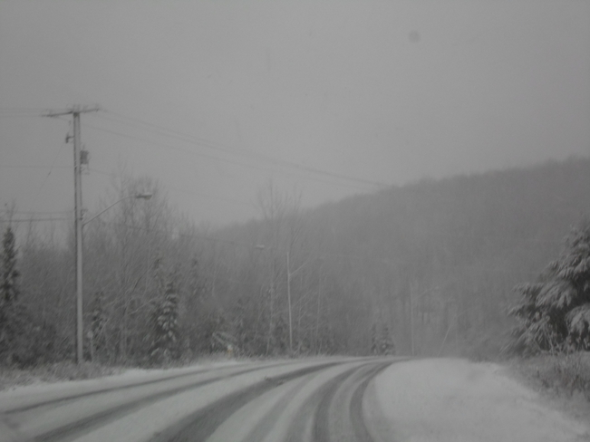 First Snow storm in E.L Elliot Lake, Ontario Canada