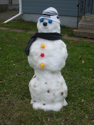 My 3 year old daughters snowman