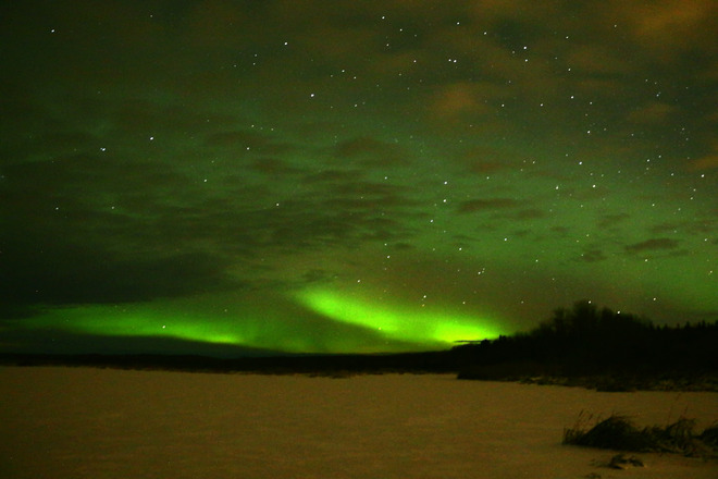 Northern Lights The Pas, Manitoba Canada
