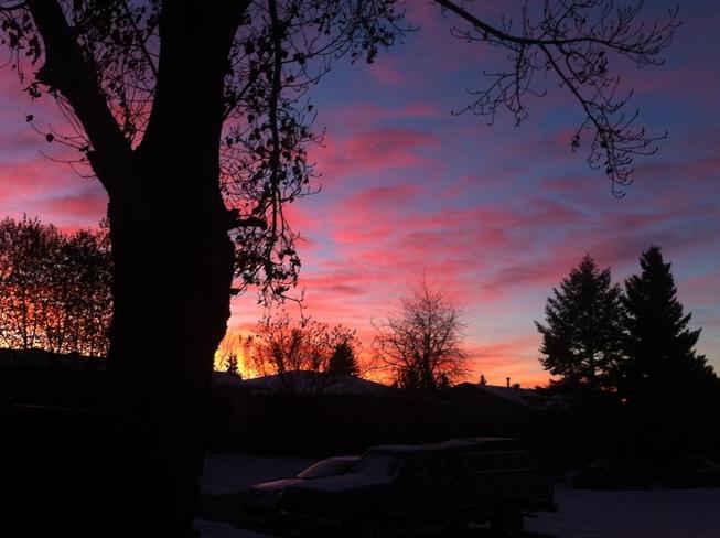 sunrise in Alberta