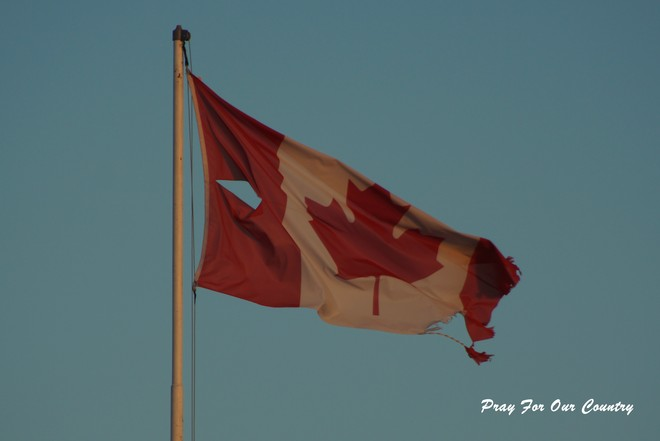 Please Honour Our Flag Port Dover, Ontario Canada