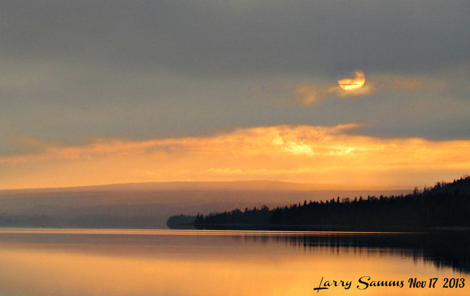 """Early Sunset"" Springdale, Newfoundland and Labrador Canada"