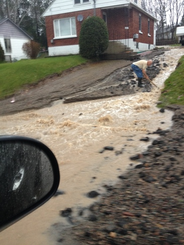 Flooding Sault Ste. Marie, Ontario Canada