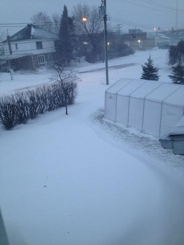 heavy snowfall Hearst, Ontario Canada