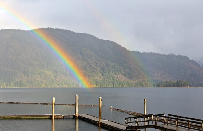 """""""When the morning gathers the rainbow"""" Lake Cowichan, British Columbia Canada"""