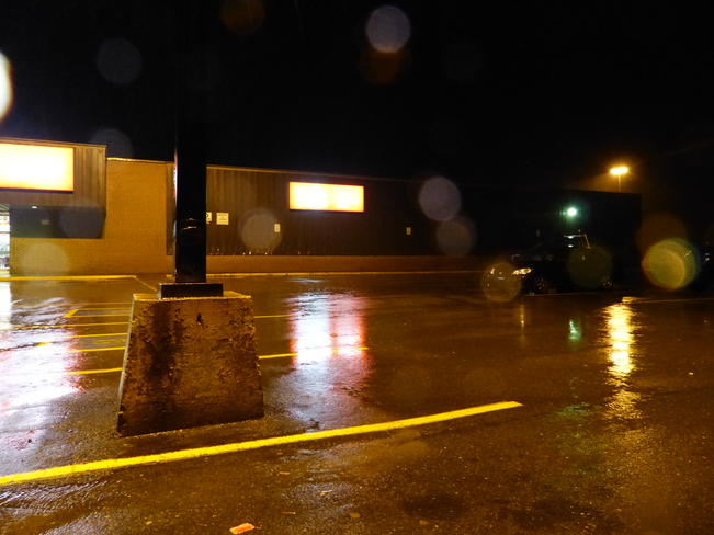 Wet, windy evening Shelburne, Nova Scotia Canada
