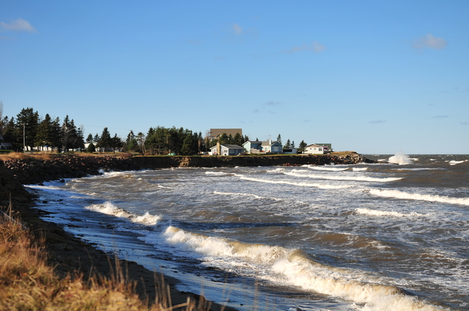 The wind is blowing in Cocagne Cocagne, New Brunswick Canada