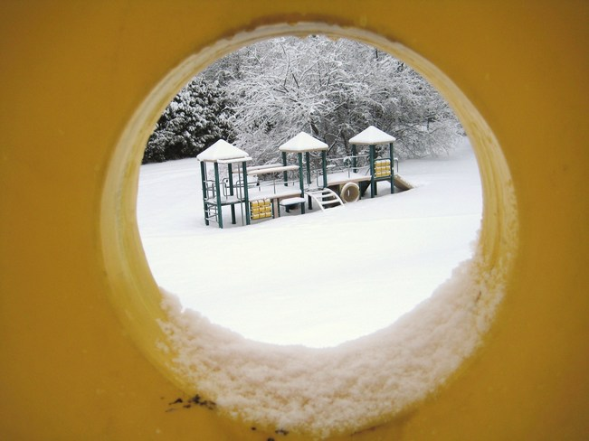 Playground in winter Richmond Hill, Ontario Canada