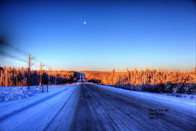Day started -28 C Swan Hills, Alberta Canada