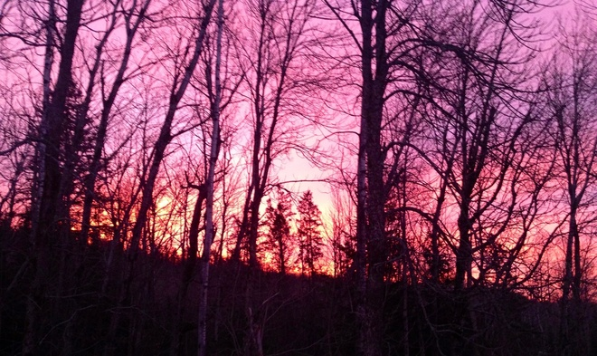 morning sky Mattawan, Ontario Canada