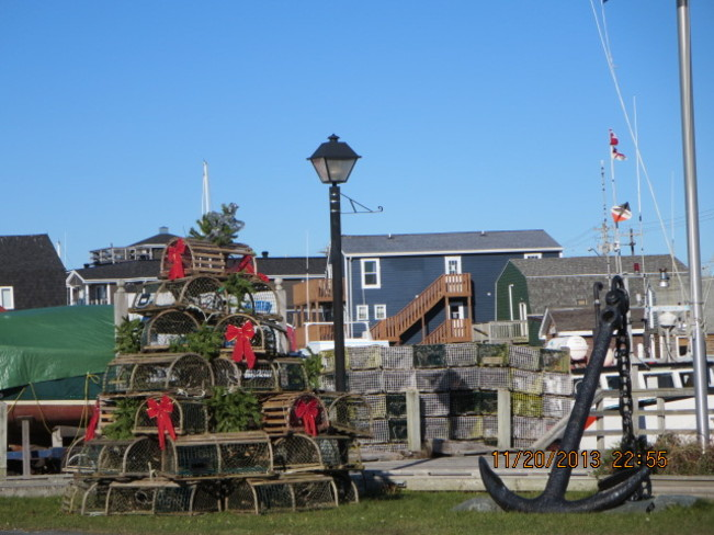 tree of lobster traps Eastern Passage, Nova Scotia Canada