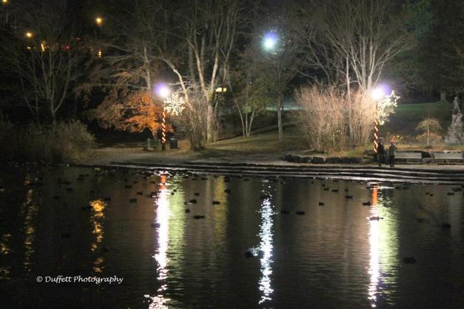 Night shot at Bowring park St. John's, Newfoundland and Labrador Canada