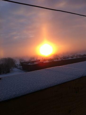 beautiful sunrise Calgary, Alberta Canada