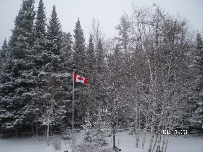 Our Flag in the wind Johnville, New Brunswick Canada