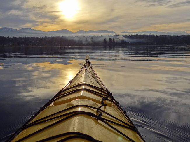 Not too cold to kayak to work Royston, British Columbia Canada