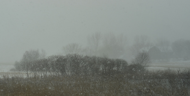 Snow squall Ingersoll, Ontario Canada