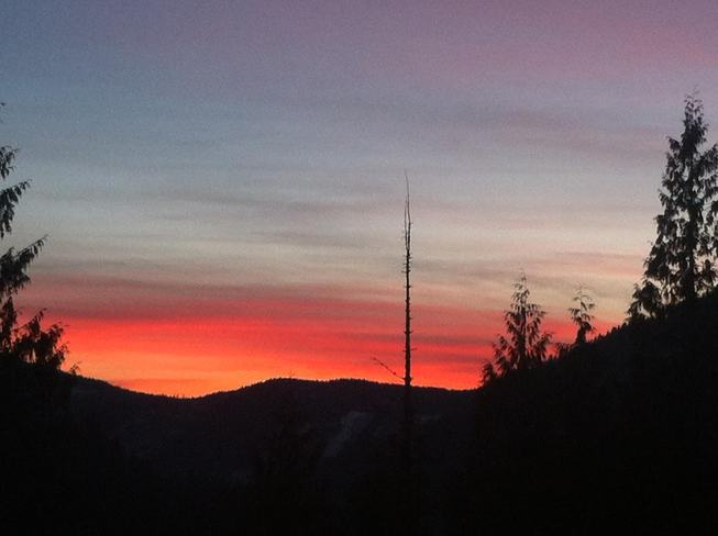 Sunset in the Mountains of Rossland Rossland, British Columbia Canada