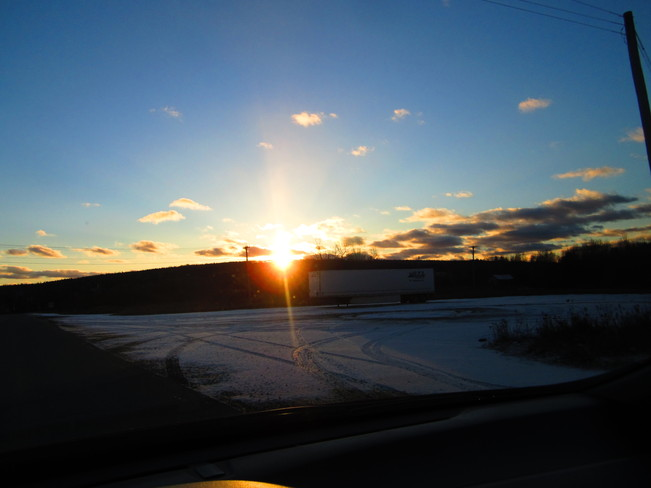 sun going down Temperance Vale, New Brunswick Canada
