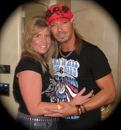 """Thankful for the gift of meeting Bret Michaels, my """"other"""" Hero!"""
