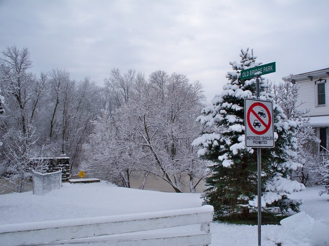 Snow Smithville, Ontario Canada