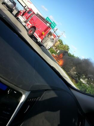 car fire I95