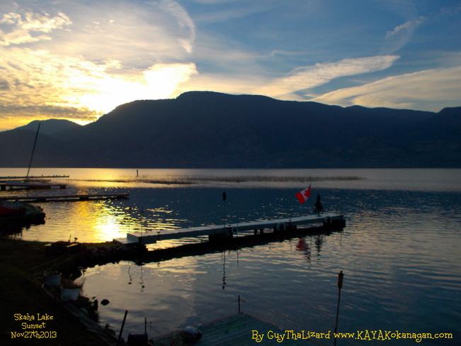 Skaha Lake Penticton Sunset Penticton 1, British Columbia Canada