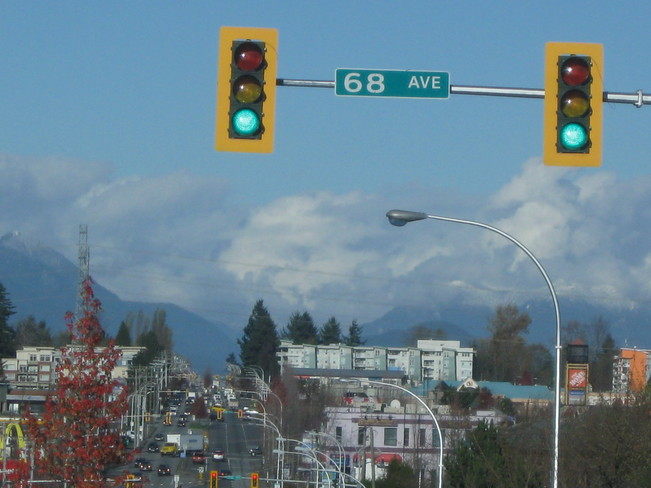 past the mountains... Surrey, British Columbia Canada