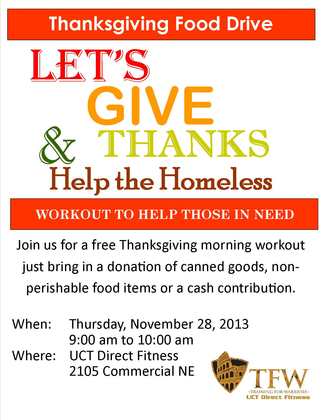 Help the Homeless free Workout