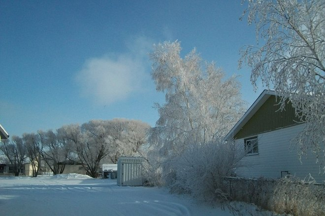 jack frost payed a visit St. Malo, Manitoba Canada