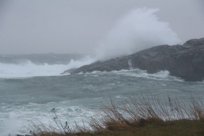 High winds Channel-Port aux Basques, Newfoundland and Labrador Canada