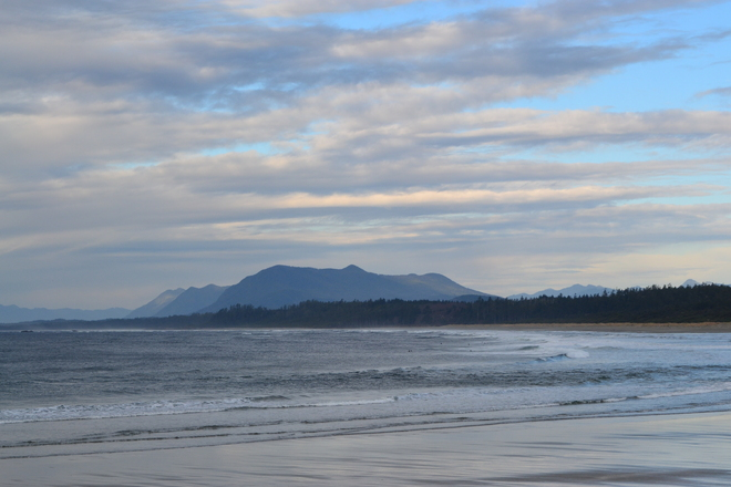 Distant Mountains Tofino, British Columbia Canada