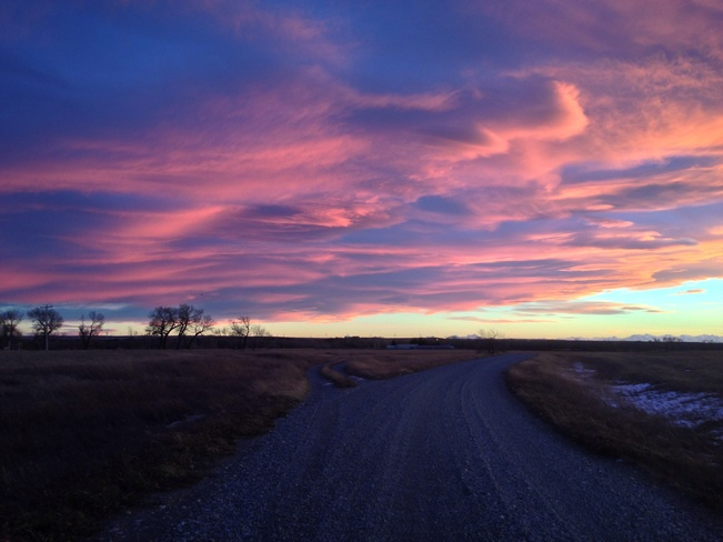 Chinook Sunset Fort MacLeod, Alberta Canada