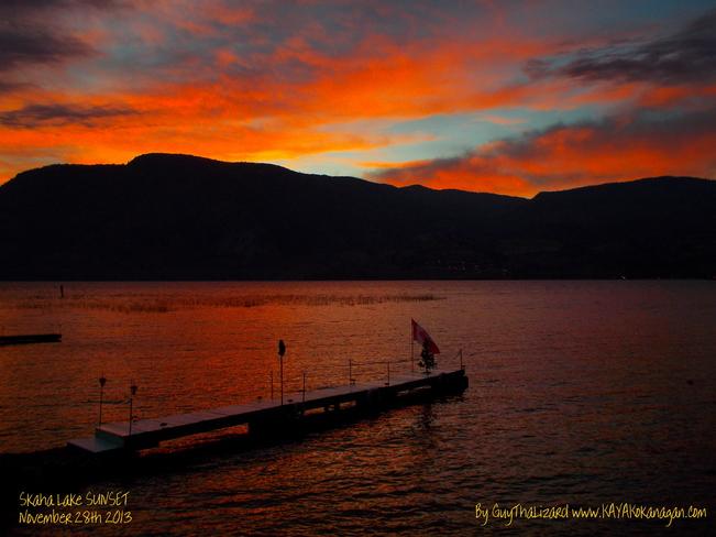 Skaha Lake Penticton Sunset Penticton, British Columbia Canada