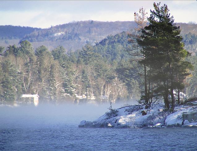 Morning fog North Bay, Ontario Canada