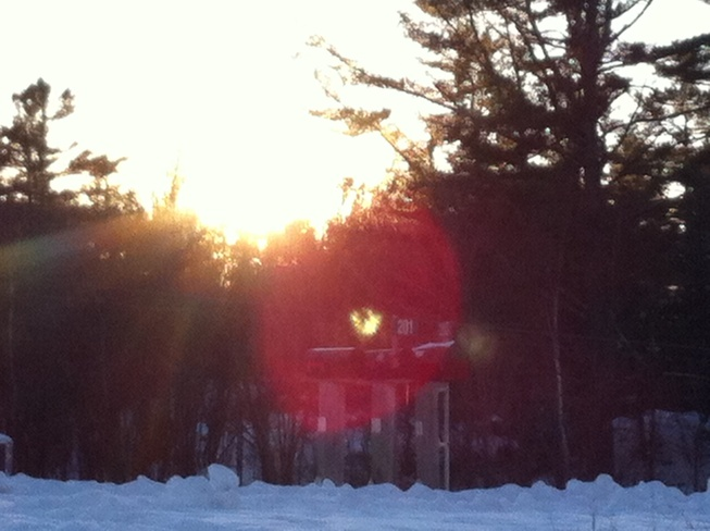 sunset in nobel Parry Sound, Ontario Canada