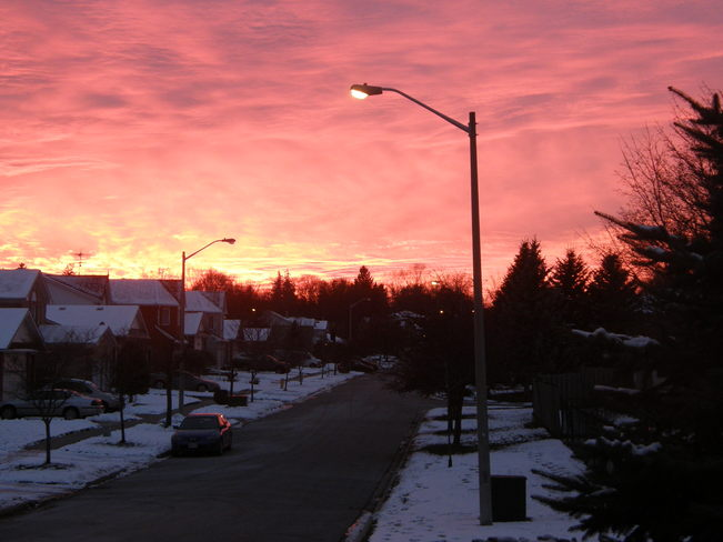 Pink Sunset Bowmanville, Ontario Canada
