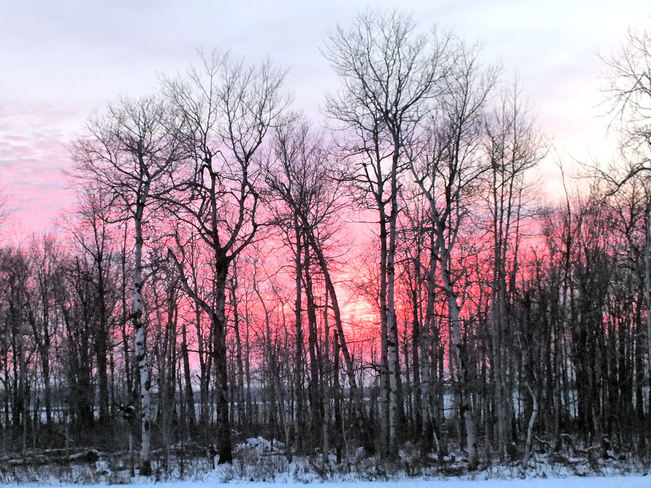 Cold Sunset Dundalk, Ontario Canada