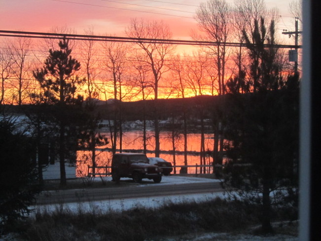sunrise on a frosty morning Glovertown, Newfoundland and Labrador Canada