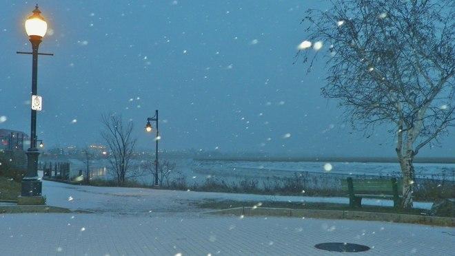 Snow Falls on Moncton Moncton, New Brunswick Canada