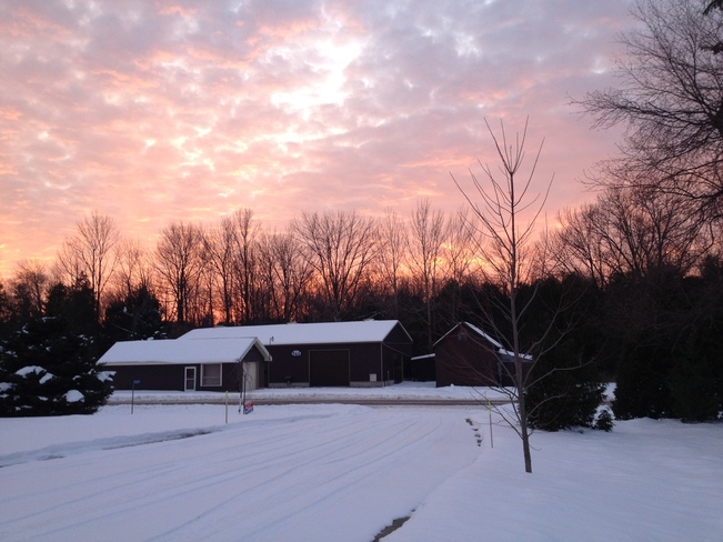 Post-snow sunset in Bayfield Bayfield, Ontario Canada