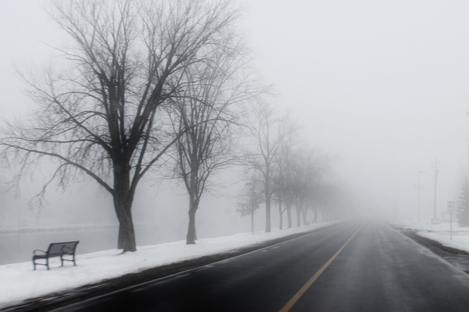 Foggy day Campbellford, Ontario Canada