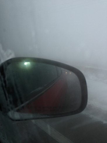 whiteout on Hwy 25 N Shaughnessy, Alberta Canada