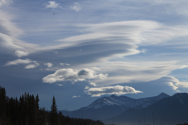 Chinnok Clouds over the Bow Valley Canmore, Alberta Canada