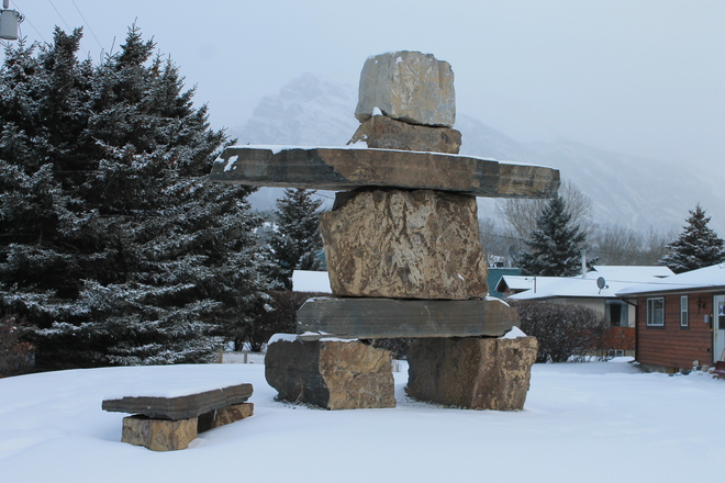 Giant Inukshuk Canmore, Alberta Canada