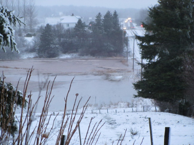 Marshes Flooded Overnight Amherst, Nova Scotia Canada