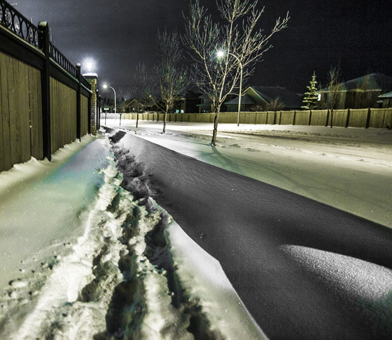 drifting Sherwood Park, Alberta Canada