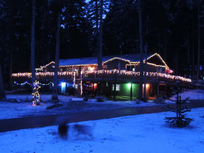 Santa's landing strip Saltair, British Columbia Canada