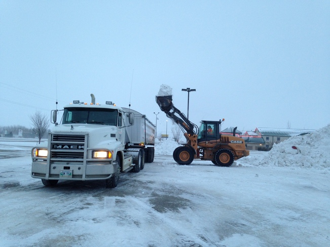 moving the snow Portage La Prairie, Manitoba Canada